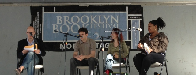 L to R: Lev Grossman, Felix Gilman, Naomi Novik, and N.K. Jemisin